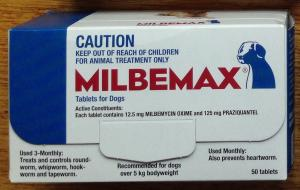milbemax dog wormer