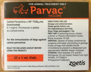 puppy parvovirus vaccine