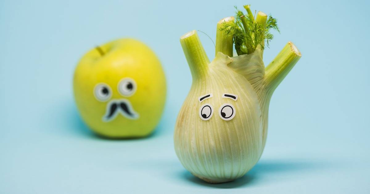 apple fennel with eyes