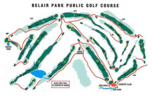 belair country club map