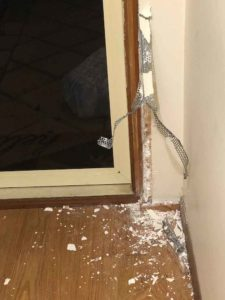 chewed door frame