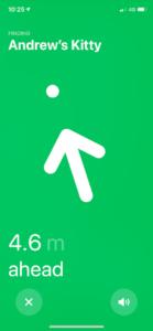 airtag location arrow
